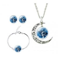 Ensembles de bijoux de la vie Boucles d'oreilles Colliers Bracelets