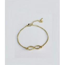 Bracelet infini doré