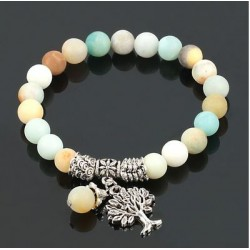 Bracelet en pierre avec arbre de vie