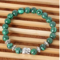 Bracelet en pierre Malachite Bouda