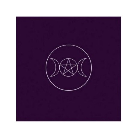 Tapis violet 80 x 80 cm - Symbole Païen