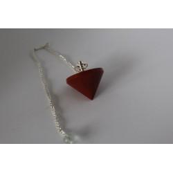Pendule guérisseur  en jaspe rouge