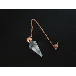pendule double puissance en cristal bronze