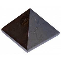 Petites pyramides en tourmaline noire