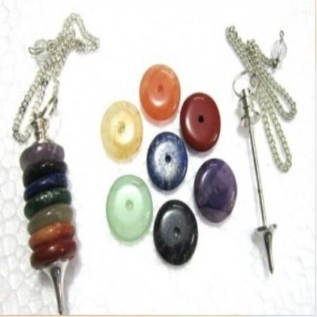 Pendule avec anneaux chakra
