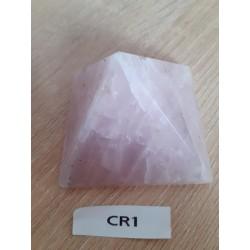 Grandes pyramides en quartz rose