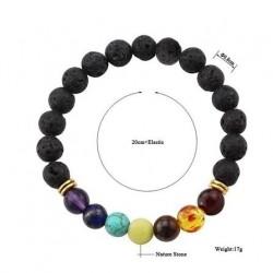 Bracelet en pierre Chakras Yoga Reiki