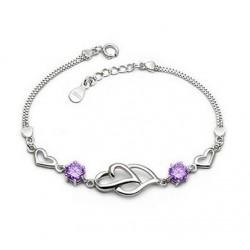Bracelet avec cristal violet