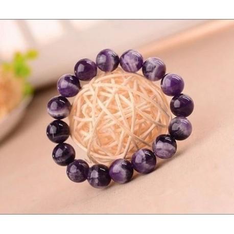 Bracelet en pierre violette