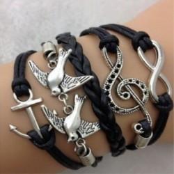 Bracelet fantaisie Ancre et infini