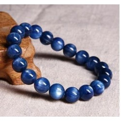 Bracelet en perles bleues