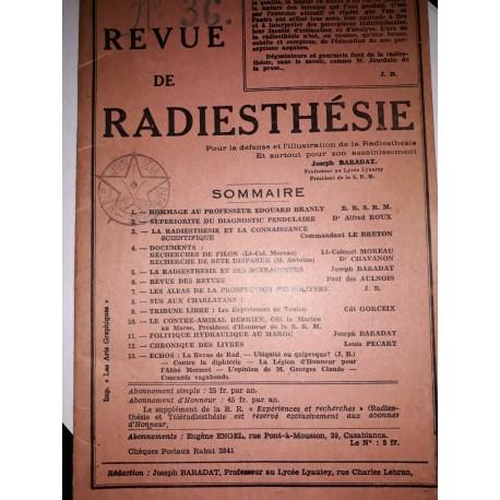 revue de radiesthésie 1922/1923  (unique tres rare)