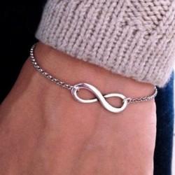 Bracelet infinie argenté